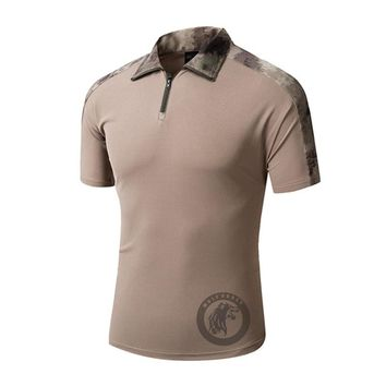Quick Dry Camouflage Army Outdoor T Shirt for Men Hunting, Hiking, Climbing