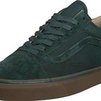 VANS Old Skool Reissue Mens Size 11 Coated Green Gables Medium Gum Fashion Skateboarding Shoes