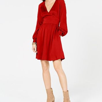 Michael Kors Petite V-Neck Fit & Flare Dress Women - Dresses - Macy's