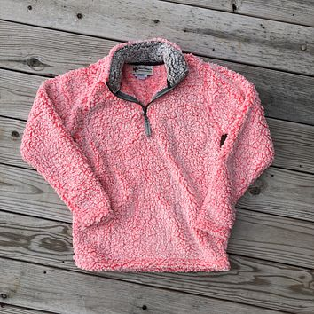 Iced Coral Sherpa Pullover