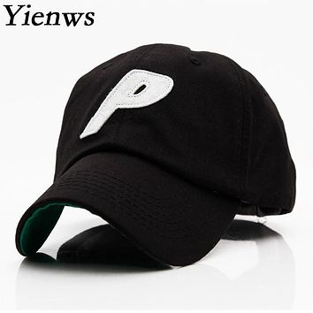 Yienws Woman Baseball Cap For Woman Hat Bone Brim Curved Full Cap Letter P Korean Pop Summer Trucker Cap YH309