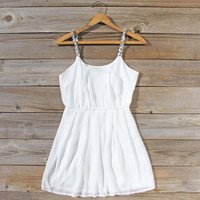Jewel Tide Dress in White