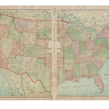Cram's 1907 Map of United States of America