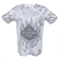 Harry Potter Marauder's Map Allover Print Adult T-Shirt | HarryPotterShop.com