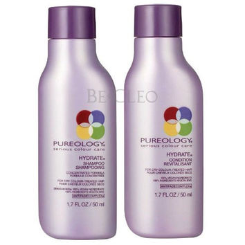Pureology Hydrate Shampoo & Hydrate Light Condition 1.7oz Travel Set