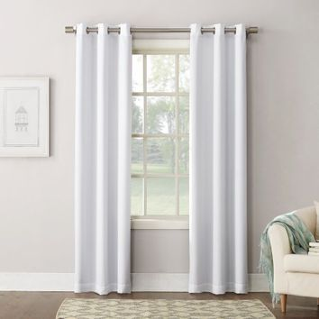 Mainstays Texture Blackout Lined Energy Efficient Grommet Curtain Panel - Walmart.com