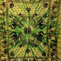 Tie Dye Elephant Tapestry Single - Mellow Mood