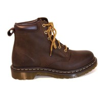 Dr Martens 6-Eye - Dark Brown Burnished Short Lace-Up Boot