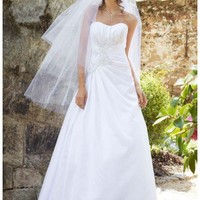 Buy NEW! Satin Side Draped Gown with Beaded Lace Appliques Style WG3464  , from  for $144.67 only in Fashionwithme.com.