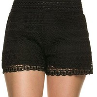 Crochet Lace Shorts