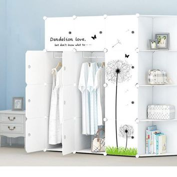 Simple Assembly Of Plastic Wardrobe