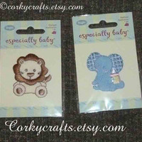 Iron-On Appliqués- lion, elephant and sheep  3  for 1 price