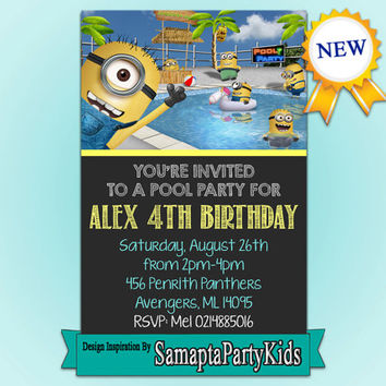 Minion Party Samapta Design - Digital File