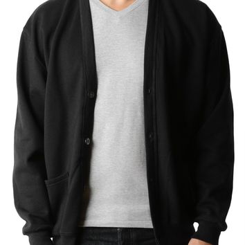 PREMIUM Mens Oversized Soft Knit V Neck Cardigan Sweater