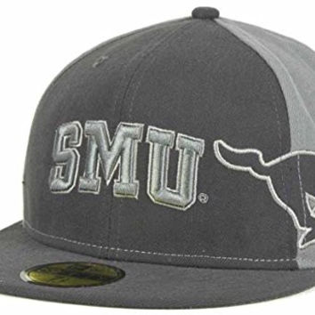 Southern Methodist Mustangs SMU Graphite Sidefill New Era 59FIFTY Fitted Cap Hat (7 5/8, Gray)