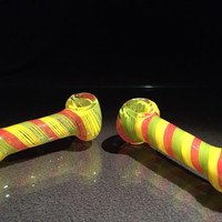 Rastafarian Hand Blown Glass Smoking Pipe Spoon Style Bowl Glass Pipe 4""