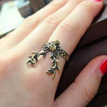 accessories vintage stereo sika deer ring finger ring personalized