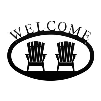 Wrought Iron Small Chairs Welcome Home Sign Small