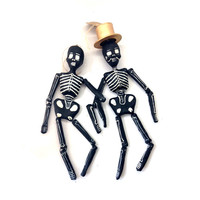 Paper Skeleton Ornaments