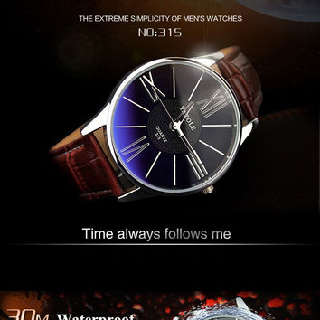2016 Fashion Rome Luxury Brand YAZOLE Scale Quartz Watch for men