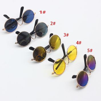 1PCS Doll Accessories round-shaped Round glasses colorful glasses sunglasses suitable for bjd blyth as for 18inch American dolls