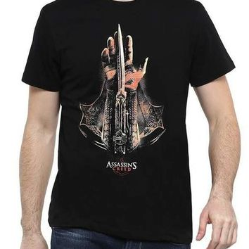 Assassins Creed Hidden Blade Black Half Sleeve Men