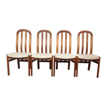 Pre-owned Danish Modern Dining Side Chairs - Set of 4