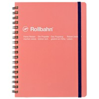 """Rollbahn Notebook Large 5.5 x 7"""" Coral"""