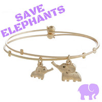 Save the Elephants Mommy & Me Dual-Bracelets