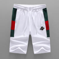 GUCCI New fashion embroidery bee couple high quality shorts White