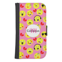 Emoji Style Fun Cute Trendy Smiley Faces Phone Wallets