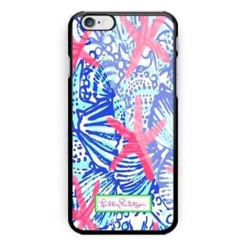 Lilly Pulitzer Shells Coral iPhone Samsung 5 5s 6 6s 7 8 X Plus Edge Hard Case
