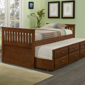 Connor Twin Captains Bed with Trundle and Storage