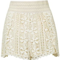 TALL Crochet Shorts - Cream