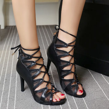 2016 new fashion elegant Roman sandals for summer graduation ball party formal = 4777205956