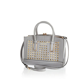 River Island Womens Grey studded frame bag