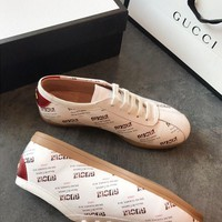 GUCCI Falacer Gucci stamp print sneaker