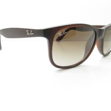 Ray-Ban RB 4202 Andy 6073/13 Brown Rectangle SUNGLASSES 55-17-145 11480