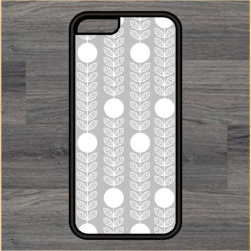 Circle and Leaves Pattern Design Art iPhone 4 / 4s / 5 / 5s / 5c /6 / 6s /6+ Apple Samsung Galaxy S3 / S4 / S5 / S6