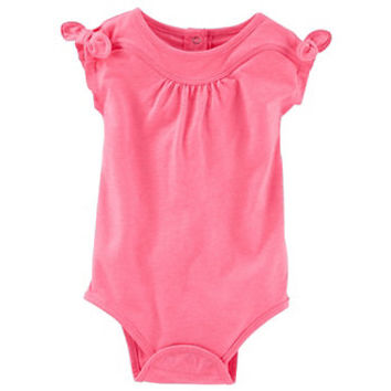 Baby Girl OshKosh B'gosh® Bow-Sleeve Bodysuit