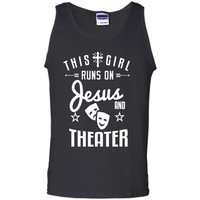Theater Girl Funny Gift Shirt This Girl Runs on Theatre Tee