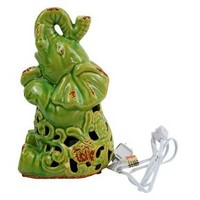 Ceramic Elephant Figurine Lamp - Green : Target