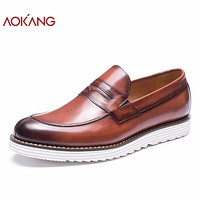 New Arrival men shoes leather genuine shoes man casual dress men shoes high quality shoes