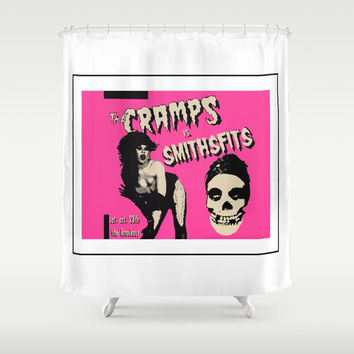 crampsandmisfits Shower Curtain by Kathead Tarot/David Rivera