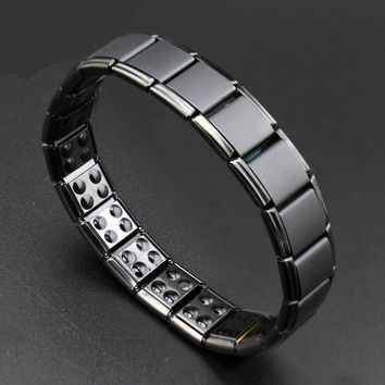 New 13mm 80 Germanium Black Titanium Energy Bracelet Power Bangle