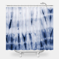 Zig Zag Dye Shower Curtain