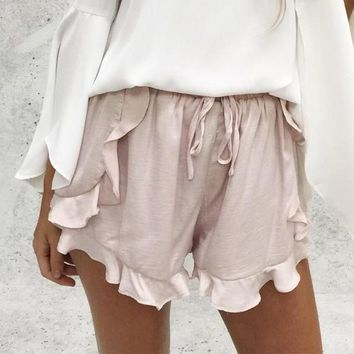Amy Ruffled To the Hilt Shorts