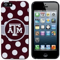 Texas A&M Aggies iPhone 5 Polka Dot Snap-On Case - Maroon