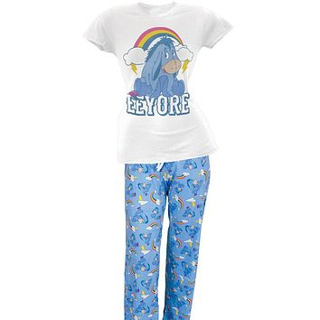Winnie the Pooh - Eeyore Rainbow Juniors Two Piece Pajama Set