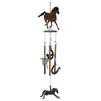Horse Wind Chime 2 Horseshoes 60%OFF